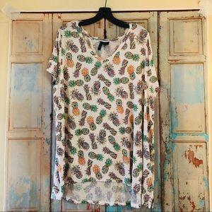 Cynthia Rowley pineapple shirt 2x